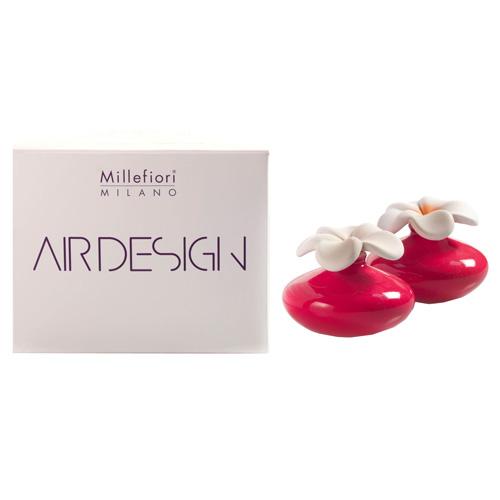 Keramický difuzér Millefiori Milano Air Design, květina mini, 2 ks, červený