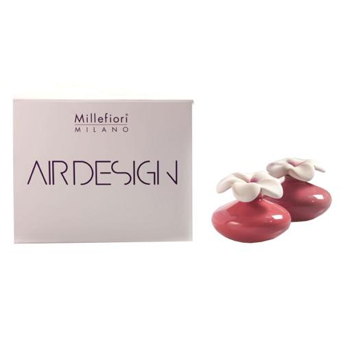 Keramický difuzér Millefiori Milano Air Design, květina mini, 2 ks, fialový