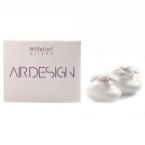 Keramický difuzér Millefiori Milano Air Design, květina mini, 2 ks, bílý