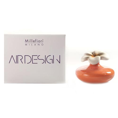 Keramický difuzér Millefiori Milano Air Design, květina malá, oranžový