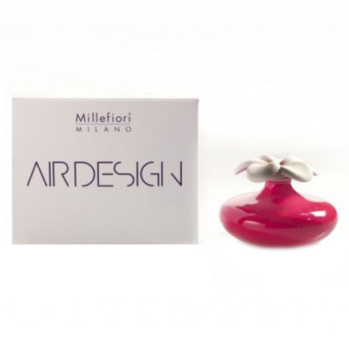 Keramický difuzér Millefiori Milano Air Design, květina malá, červený