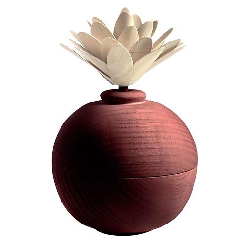 Dřevěný difuzér Millefiori Milano Air Design, s květinou/Červená koule
