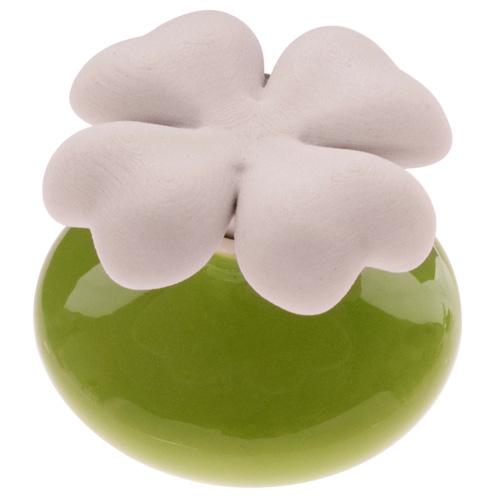 Keramický difuzér Millefiori Milano Lovely, čtyřlístek mini, zelený