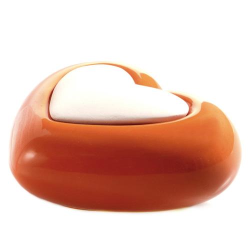 Keramický difuzér Millefiori Milano Lovely, srdce, oranžový