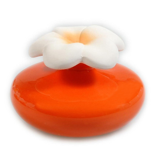 Keramický difuzér Millefiori Milano Lovely, květina malá, oranžový