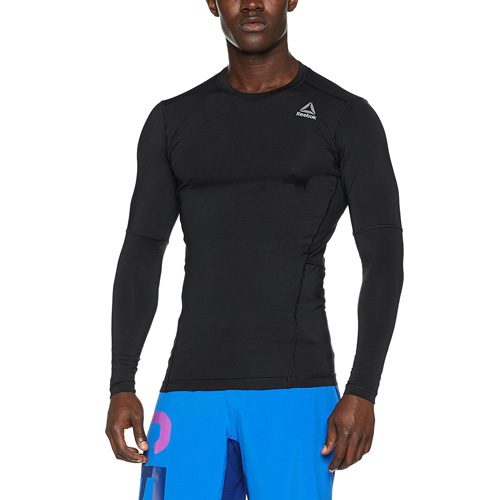 Reebok WOR COMPR LO SLEEVE SOLID 02 | TRAINING | M | GRAPHIC TEE (LONG SLEEVE) | BLACK | XL