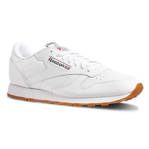 Reebok CL LTHR 01 | RUNNING | M | SHOES - LOW (NON FOOTBALL) | WHITE/GUM |