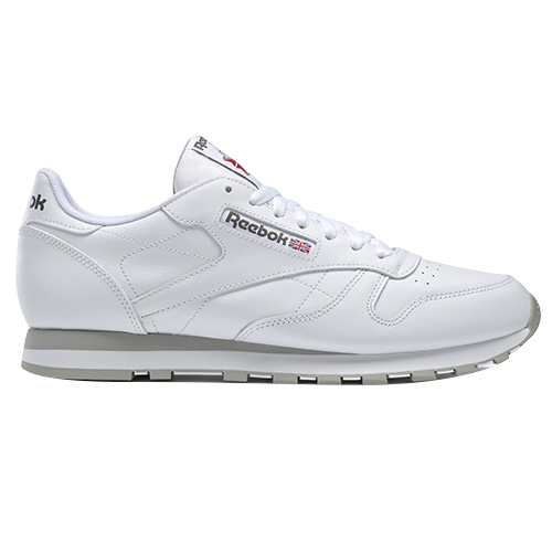 Reebok CL LTHR 01 | RUNNING | M | SHOES - LOW (NON FOOTBALL) | WHITE/LT. GR