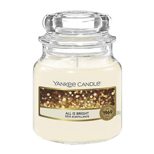Svíčka ve skleněné dóze Yankee Candle Všechno jen září, 104 g