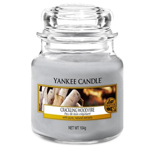 Svíčka ve skleněné dóze Yankee Candle Praskající oheň, 104 g