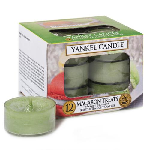Vonné čajové svíčky Yankee Candle 12 ks - Macaron treats