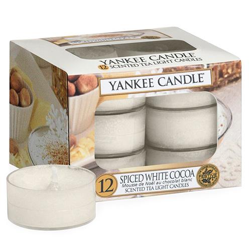 Vonné čajové svíčky Yankee Candle 12 ks - Spiced white cocoa