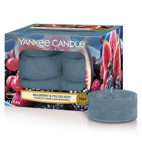 Svíčky čajové Yankee Candle Lahodné moruše a fíky, 12 ks