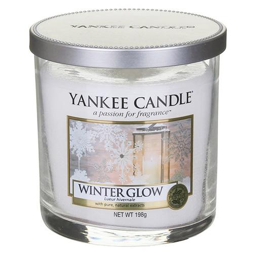 Svíčka ve skleněném válci Yankee Candle Zářivá zima, 198 g