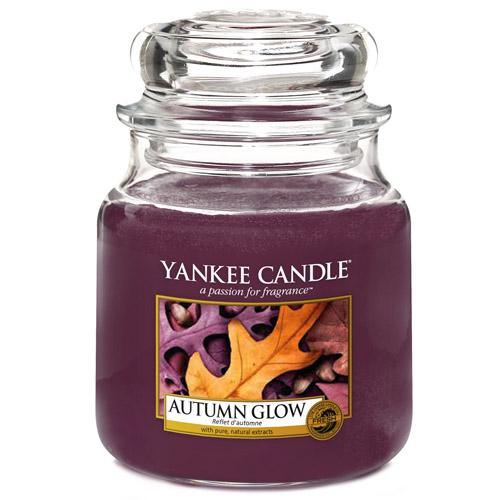 Svíčka ve skleněné dóze Yankee Candle Podzimní záře, 410 g