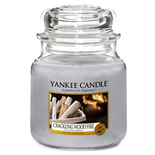 Svíčka ve skleněné dóze Yankee Candle Praskající oheň, 410 g