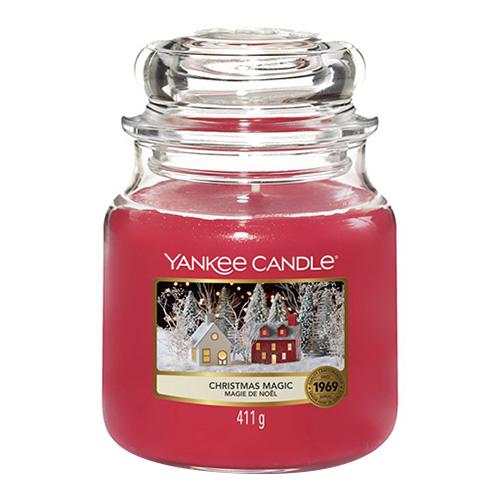 Svíčka ve skleněné dóze Yankee Candle Vánoční kouzlo, 410 g
