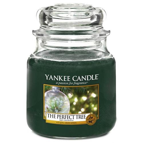 Svíčka ve skleněné dóze Yankee Candle Dokonalý stromek, 410 g