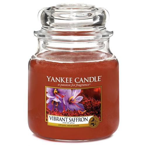 Svíčka ve skleněné dóze Yankee Candle Živoucí šafrán, 410 g