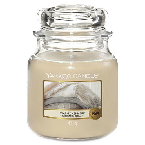 Svíčka ve skleněné dóze Yankee Candle Hřejivý kašmír, 410 g