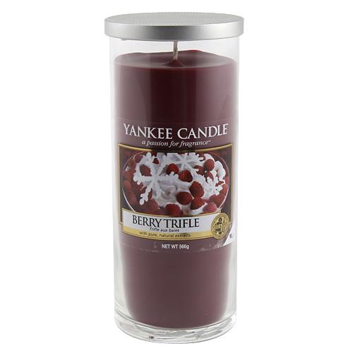 Svíčka ve skleněném válci Yankee Candle Ovocný dezert s vanilkovým krémem, 566 g