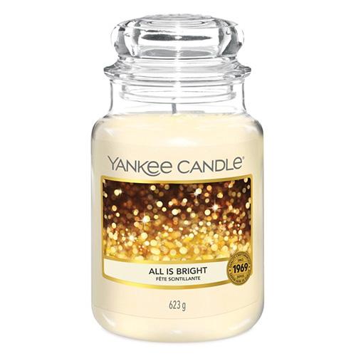 Svíčka ve skleněné dóze Yankee Candle Všechno jen září, 623 g