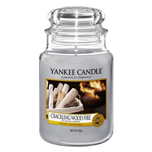 Svíčka ve skleněné dóze Yankee Candle Praskající oheň, 623 g