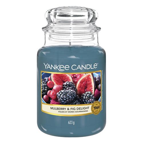 Svíčka ve skleněné dóze Yankee Candle Lahodné moruše a fíky, 623 g