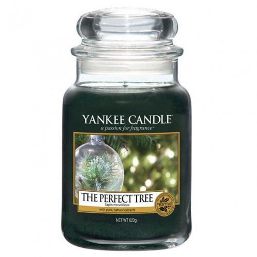Svíčka ve skleněné dóze Yankee Candle Dokonalý stromek, 623 g