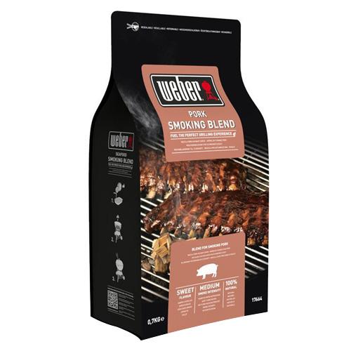 Udící lupínky Weber Vepřové maso, dřevěné, 700g