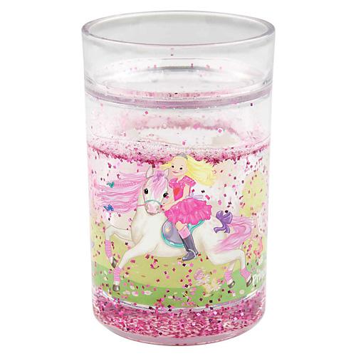 Plastový pohárek My Style Princess Princess Mimi, s dvojitou stěnou se třpytkami