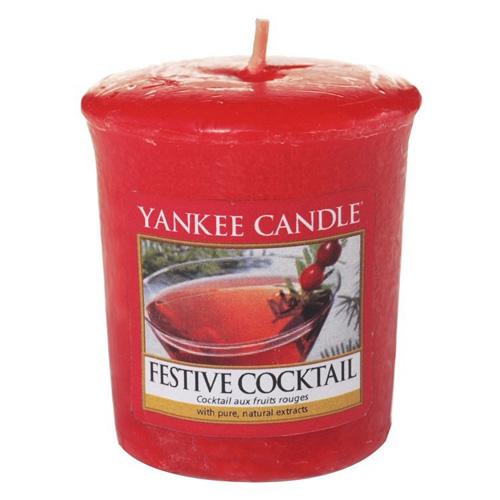 Svíčka Yankee Candle Sváteční koktejl, 49 g