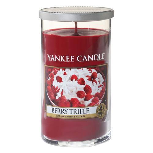 Svíčka ve skleněném válci Yankee Candle Ovocný dezert s vanilkovým krémem, 340 g