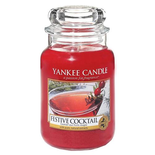Svíčka ve skleněné dóze Yankee Candle Sváteční koktejl, 623 g