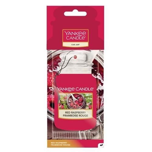 Osvěžovač do auta Yankee Candle Červená malina, 1x papírová visačka
