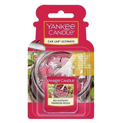 Osvěžovač do auta Yankee Candle Červená malina, 1x visačka