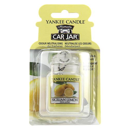 Osvěžovač do auta Yankee Candle Sicilský citrón, 1x visačka