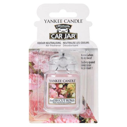 Osvěžovač do auta Yankee Candle Čerstvě nařezané růže, 1x visačka