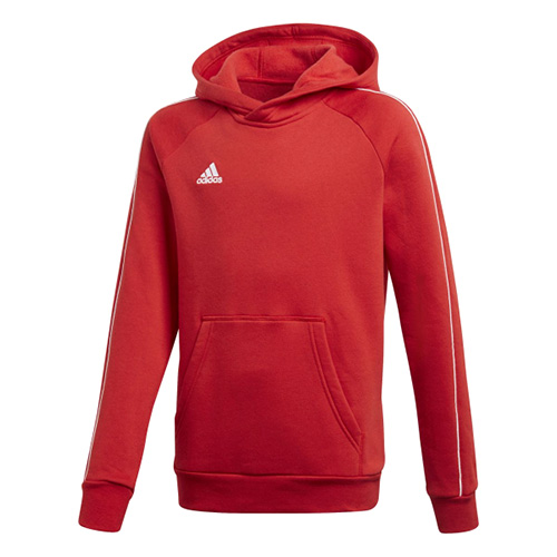 Adidas CORE18 HOODY Y POWRED/WHITE | 176 SS18