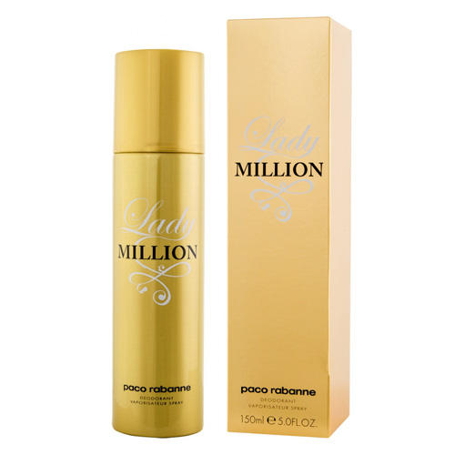 Paco Rabanne Lady Million - deodorant ve spreji 150 ml
