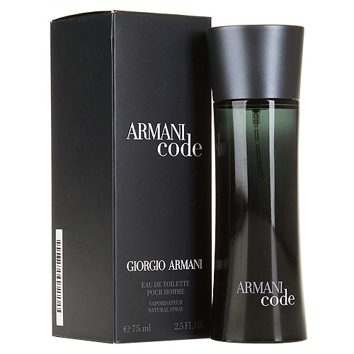 Toaletní voda pro muže s rozprašovačem Giorgio Armani Armani Code, 75 ml