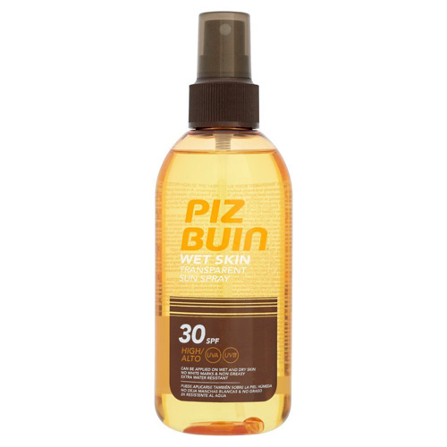 Sluneční sprej Piz Buin Na vlhkou pokožku, 150 ml