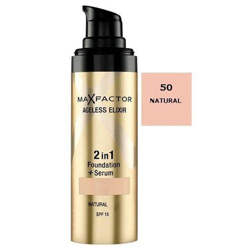 Make-up a sérum 2v1 Max Factor Natural, 30 ml