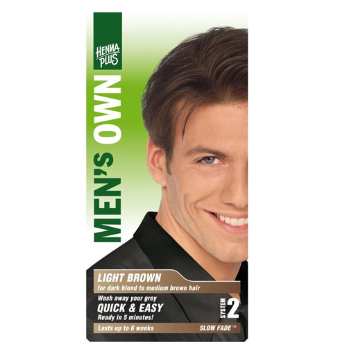 Fotografie HennaPlus Barva na vlasy Henna Plus Světle hnědá, pro muže