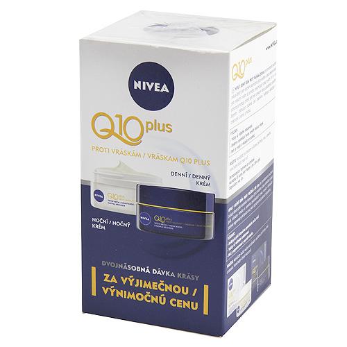 Sada denní a noční péče Nivea Q10 Plus, proti vráskám, 2 x 50 ml