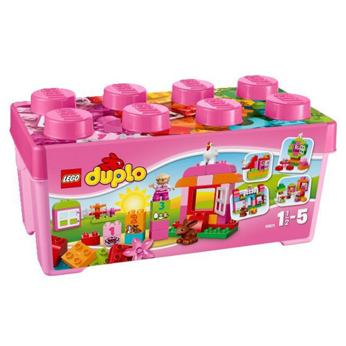 Stavebnice LEGO Duplo Růžový box plný zábavy, 65 dílků