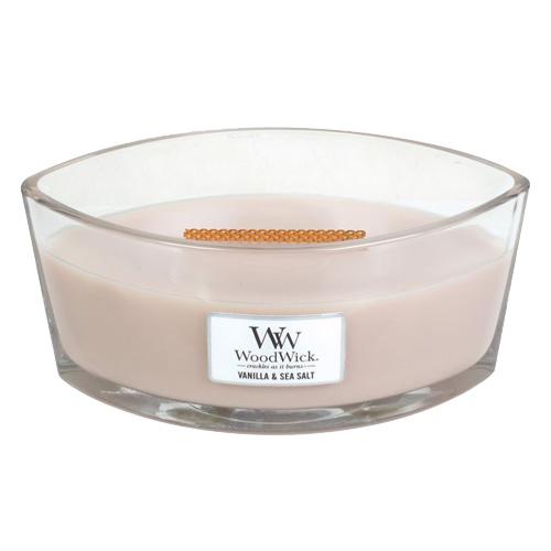 Fotografie Svíčka dekorativní váza WoodWick Vanilka a mořská sůl, 453.6 g