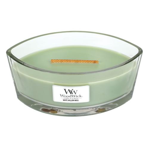 Svíčka dekorativní váza WoodWick Vrba a mech, 453.6 g