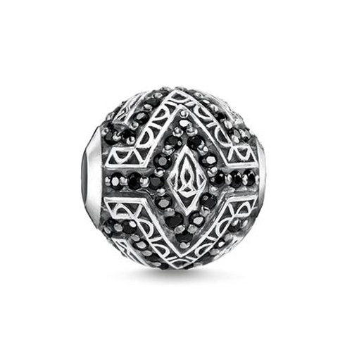 "Korálek ""Panter"" Thomas Sabo K0298-643-11, Karma Beads, 925 Sterling silver, blackened, z"