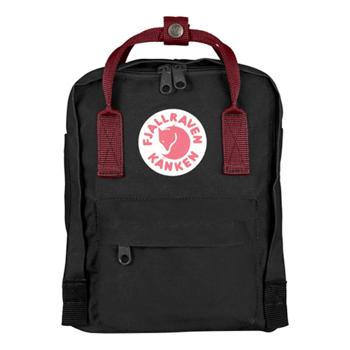 Fjällräven Kanken Mini Black-Ox Red | 550-326 | QQQ